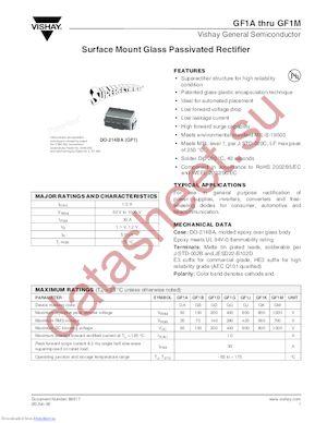 GF1J-E3/5CA datasheet скачать даташит