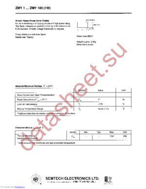 ZMY10 datasheet скачать даташит