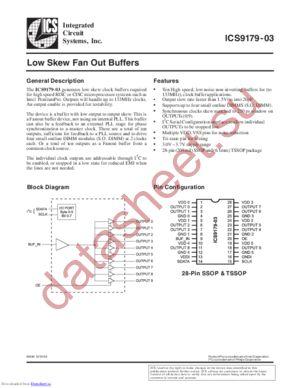 IDT9179BF03 datasheet скачать даташит