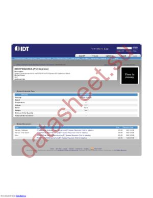 IDT89KTPES24N3A datasheet скачать даташит