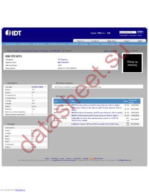 IDT89KTPES8T5 datasheet скачать даташит