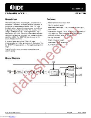 IDT9173B datasheet скачать даташит