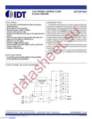 IDTCSPT855 datasheet скачать даташит