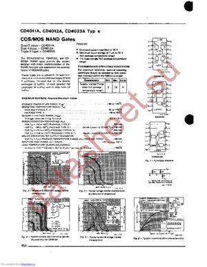 CD4012AD datasheet скачать даташит