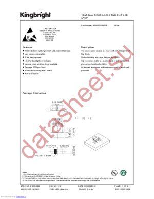 APA1606QWF-G datasheet скачать даташит