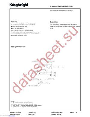 APA2106SEWK datasheet скачать даташит