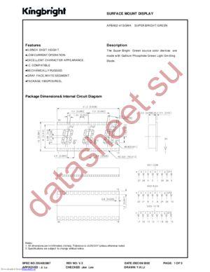 APBA02-41SGWA datasheet скачать даташит