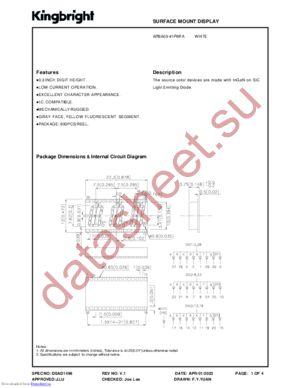APBA03-41PWFA datasheet скачать даташит