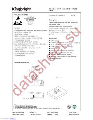 apa1606rwf-a datasheet скачать даташит