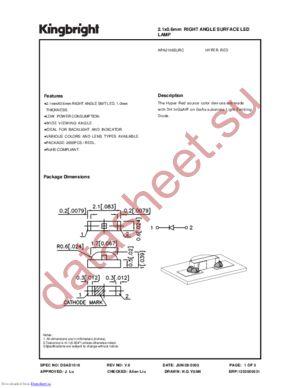 APA2106SURC datasheet скачать даташит