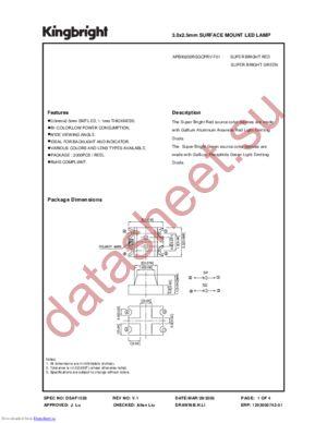 APB3025SRSGCPRV-F01 datasheet скачать даташит