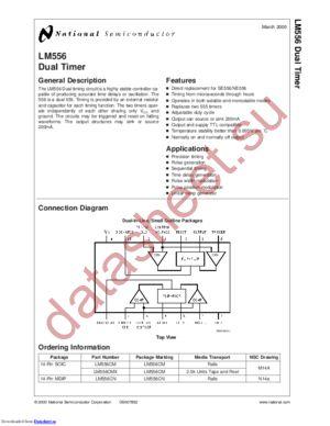 LM556CM/HAPB datasheet скачать даташит