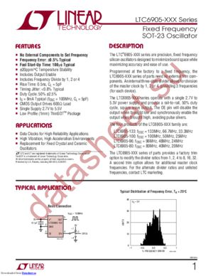 LTC6905HS5-133 datasheet скачать даташит