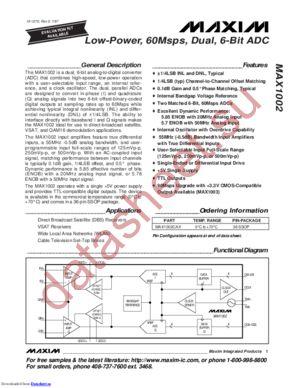 MAX1002C datasheet скачать даташит