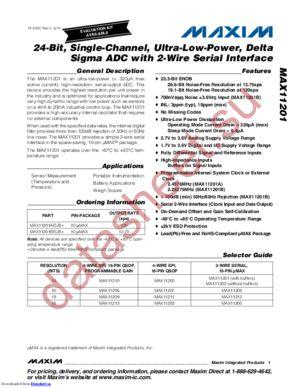 MAX11201BEUB+T datasheet скачать даташит