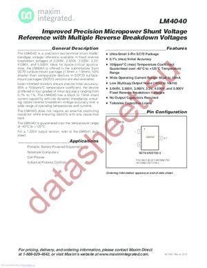 LM4040CEX3-5.0-T datasheet скачать даташит