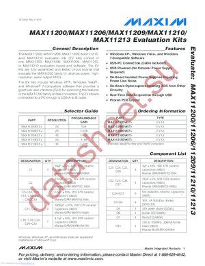 MAX11213EVKIT+ datasheet скачать даташит