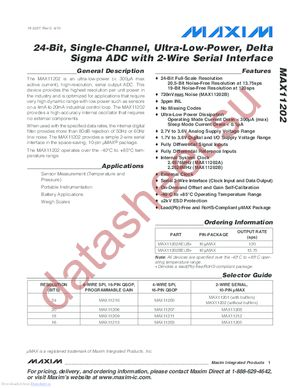 MAX11202 datasheet скачать даташит