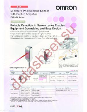 E3T-SR4 datasheet скачать даташит
