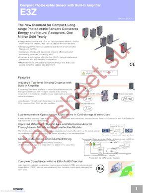 E3Z-B612M datasheet скачать даташит