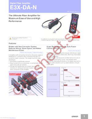 E3X-DAG11-S datasheet скачать даташит