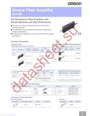 E3X-SD11 datasheet скачать даташит