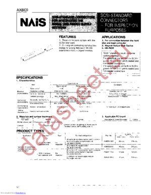 AXB3049013 datasheet скачать даташит
