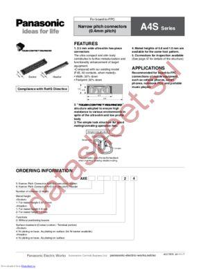AXE850124 datasheet скачать даташит