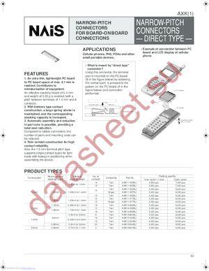 AXK1412835J datasheet скачать даташит