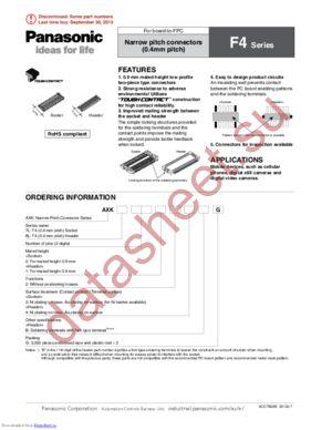 AXK8L10124BG datasheet скачать даташит