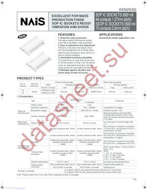 AXS6N44A149P datasheet скачать даташит
