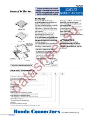 AXA2R73021P-M datasheet скачать даташит