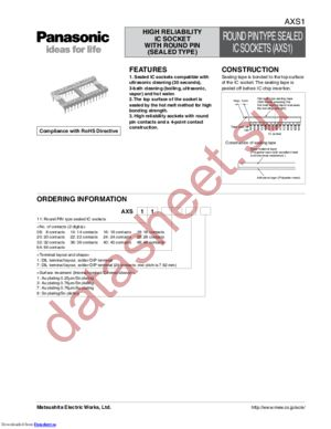 AXS111819 datasheet скачать даташит