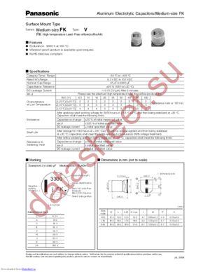 EEE-FK1C221P datasheet скачать даташит