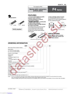 AXK7L40223G datasheet скачать даташит