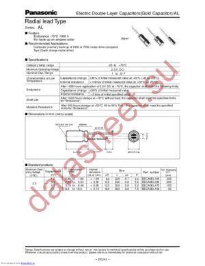 EECA0EL106 datasheet скачать даташит