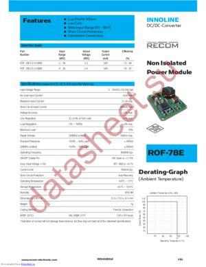 ROF-78E5.0-0.5SMD datasheet скачать даташит