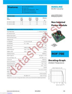 ROF-78E3.3-0.5SMD-R datasheet скачать даташит