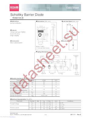 RSX201VA-30TR datasheet скачать даташит