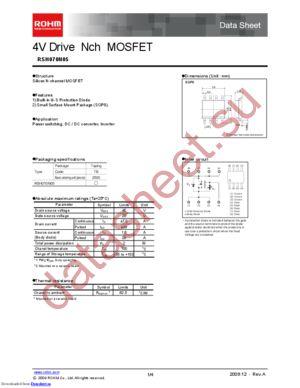 RSH070P05TB1 datasheet скачать даташит