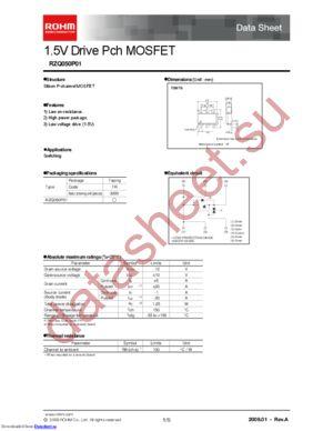 rzq050p01 datasheet скачать даташит