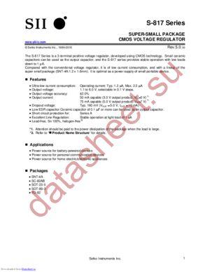 S-817A46APF-CVJTFG datasheet скачать даташит