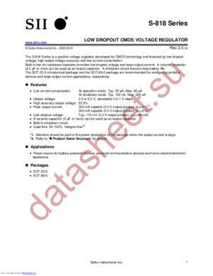 S-818A39AMC-BGTT2U datasheet скачать даташит