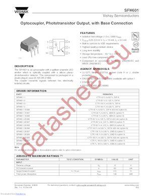 SFH601-3X007T datasheet скачать даташит