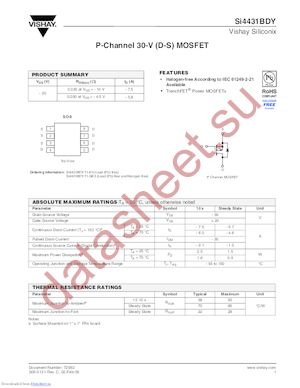 SI9936BDY-T1-GE3 datasheet скачать даташит