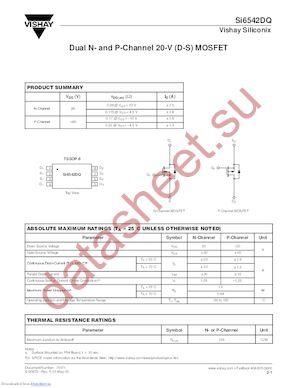 SI9958DY-T1 datasheet скачать даташит