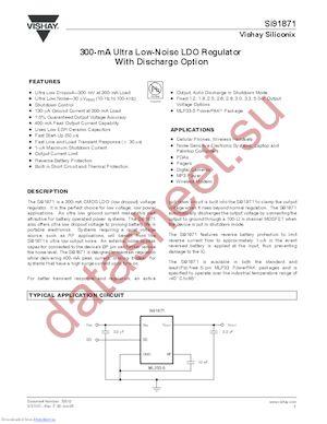 SI91872DMP-33-T1 datasheet скачать даташит