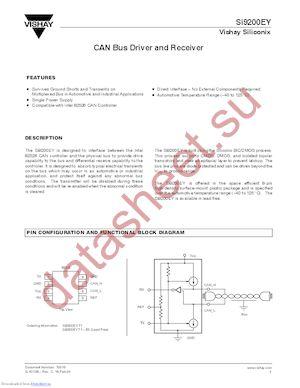 SI9200EY-T1-E3 datasheet скачать даташит