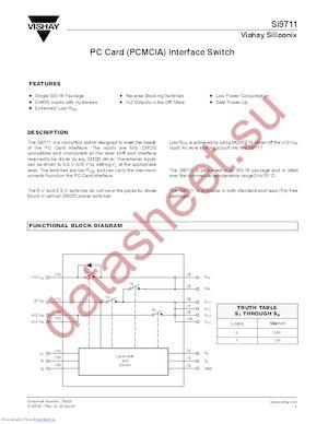 SI9711CY-T1-E3 datasheet скачать даташит