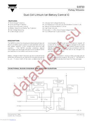 SI9730CBY-T1-E3 datasheet скачать даташит